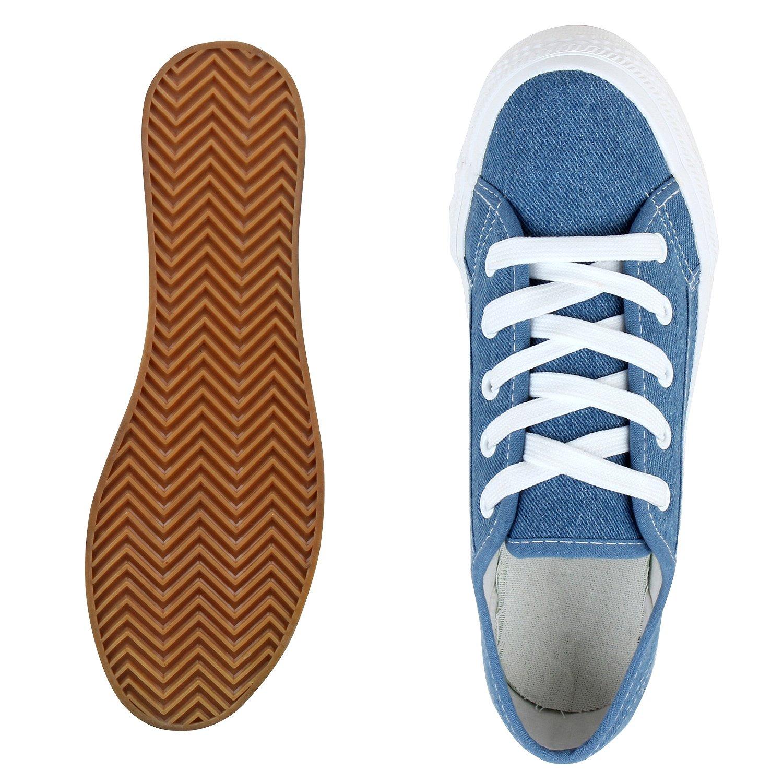 schuhe VITA Damen Glitzer Plateau Sneaker Glitzer Damen Blau Denim 0fae6b