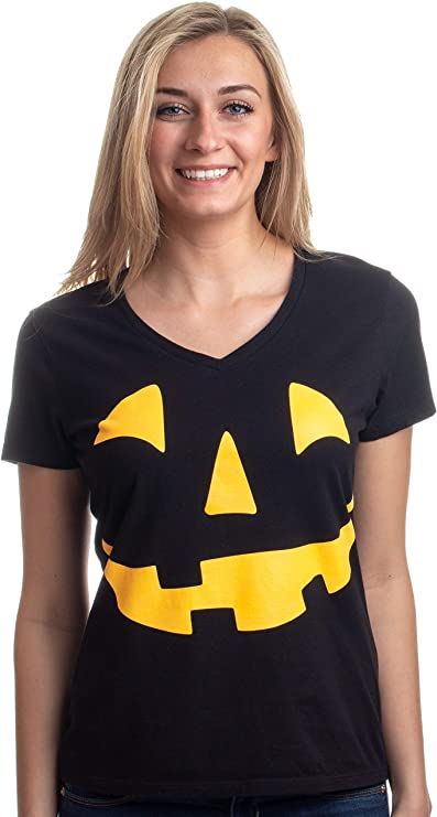 Halloween Scary Pumpkin Glow in The Dark Girls hat Black Blue Ray T-Shirts Kids