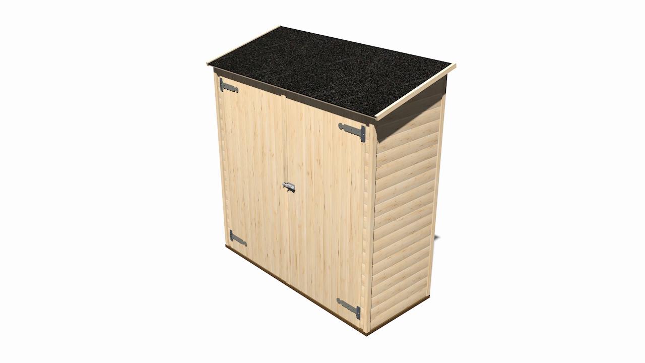 Gardiun KG12101 - Caseta de Madera Panelada - 1,12m² Marge Ext ...
