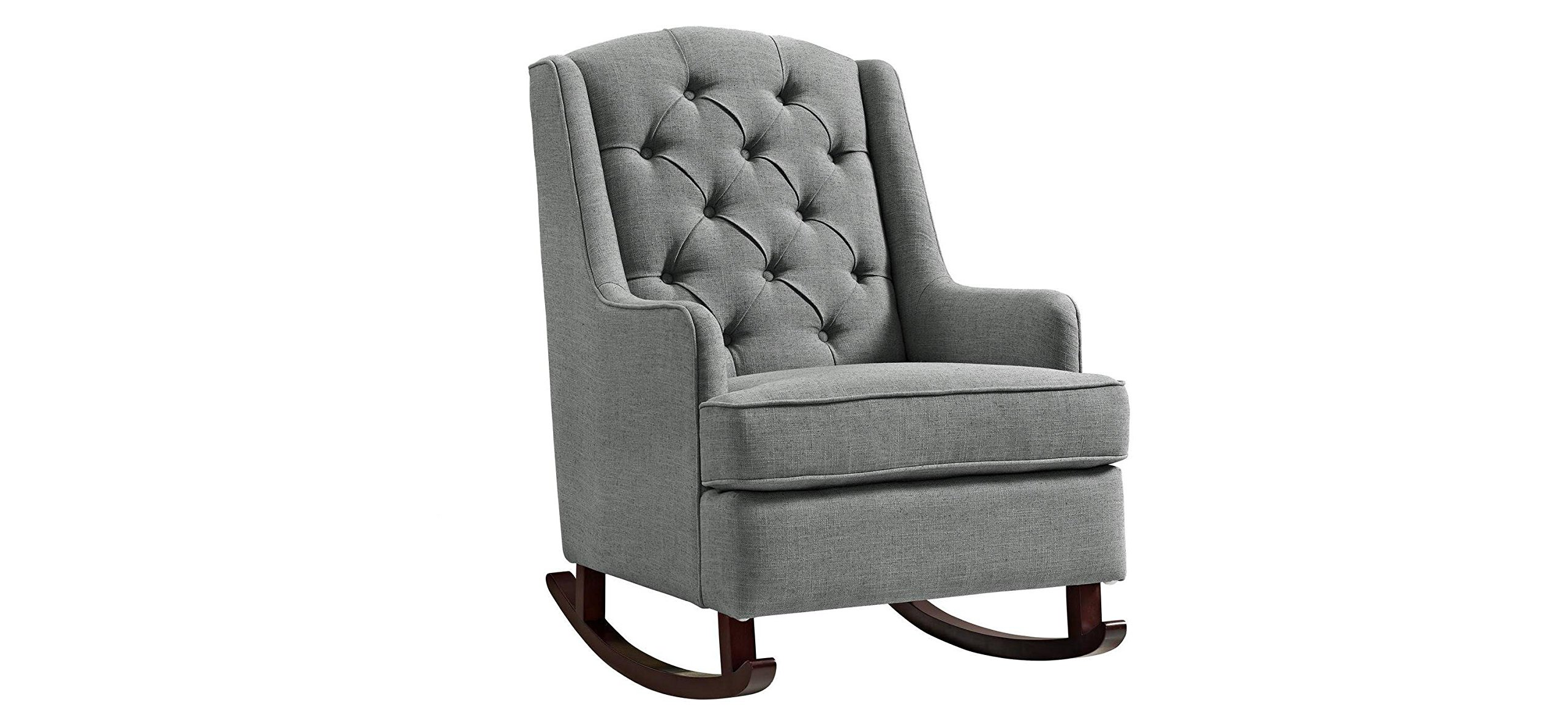 Baby Relax Zoe Tufted Rocking Chair- Gray