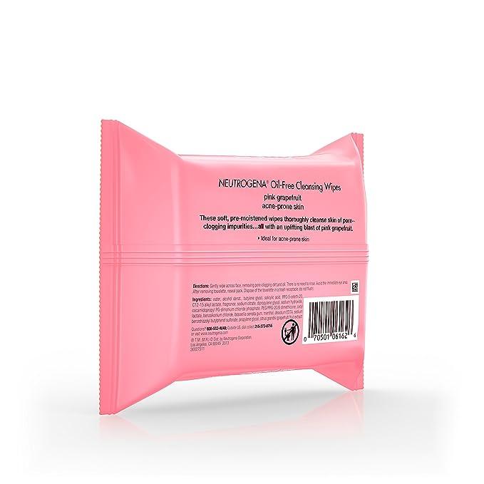 Neutrogena Cleansing Wipes, Pink Grapefruit, 25 Count by Neutrogena: Amazon.es: Belleza