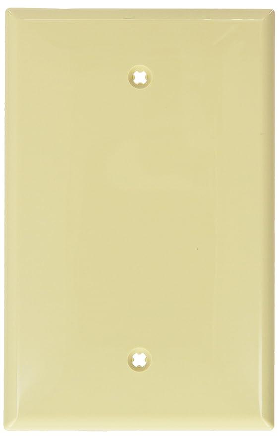 Amazon.com: Leviton PJ13-GY 1-Gang Blank Wallplate, Midway Size ...