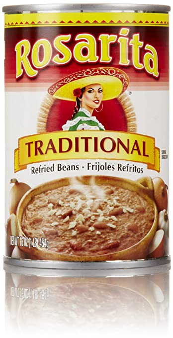 Rosarita Traditional Refried Beans, 16 oz