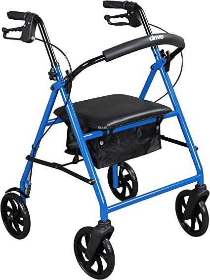 Amazon.com: Drive Medical - Andador de acero con ruedas de ...