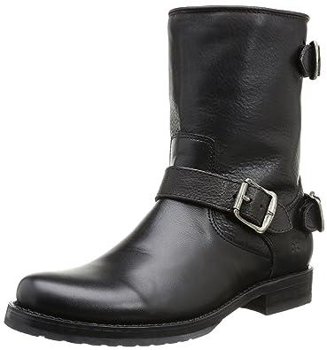 FRYE Women's Veronica Back Zip Short Black Soft Vintage Leather Boot