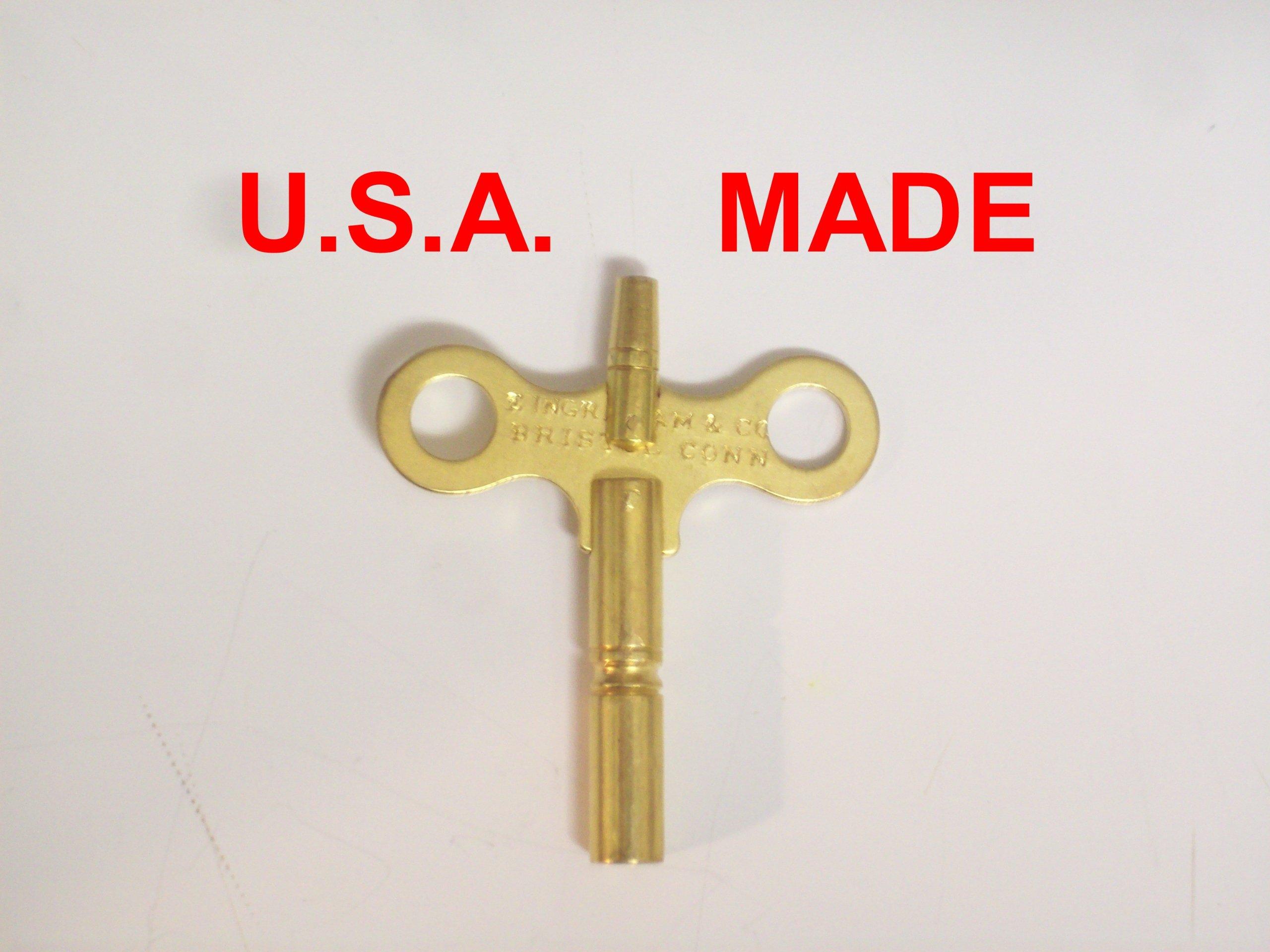 Ingraham Trademark Clock Winding Key Double End #6/000