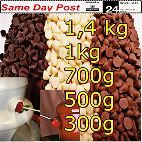 BELCOLADE Chocolate para Fuente Blanco 1 kg: Fiesta Celebración, Dulces, postres decoración