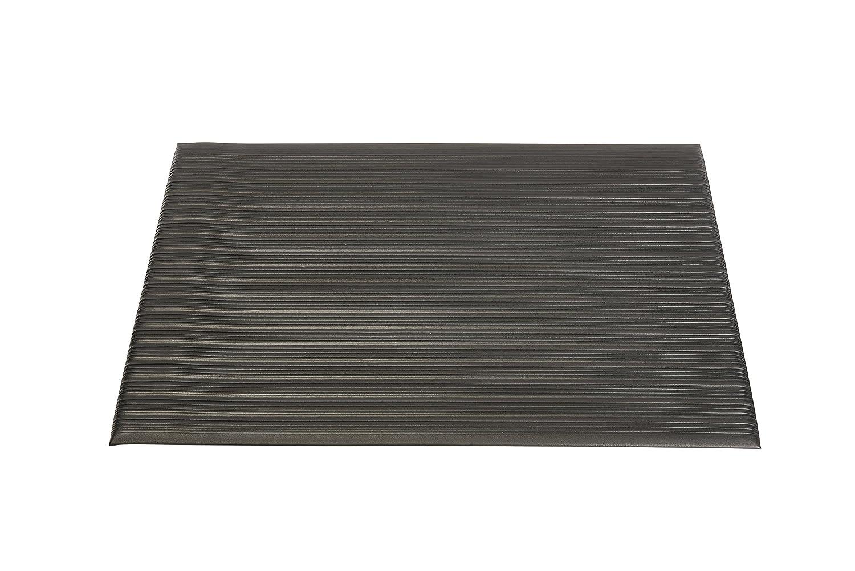 Genuine Joe Anti-Fatigue Mat, Beveled Edge, 2 by 3-Feet, Black GJO53231