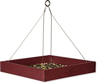 product image for Fly-by Hanging Poly Tray Bird Feeder (Cherry Wood)