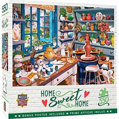 MasterPieces Home Sweet Home - Garden Getaway 550-Piece Jigsaw Puzzle: Toys & Games