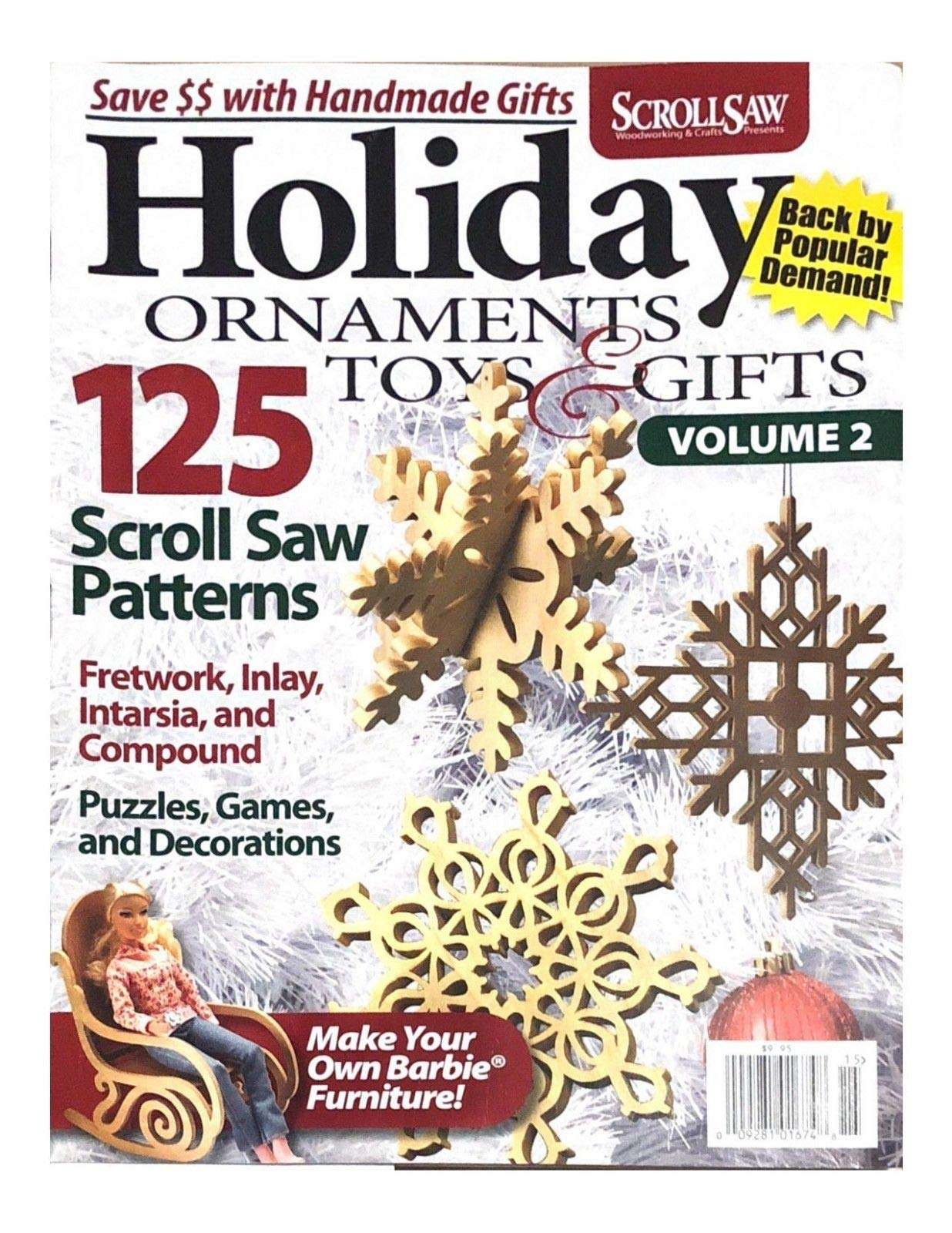SCROLL SAW WOOD WORKING & CRAFTS MAGAZINE, ORNAMENTS TOYS & GIFTS VOL.2