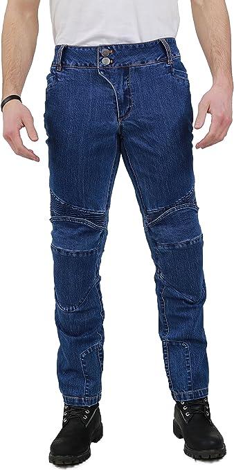 Nerve Ranger Jeans Pantalones Vaqueros de Moto Azul XXL