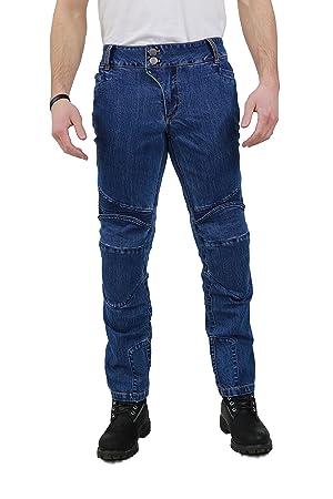 Nerve Ranger Jeans Pantalones Vaqueros de Moto, Azul, 3XL