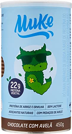 Pote Proteína Vegana Chocolate com Avelã 450G, Muke, 450G