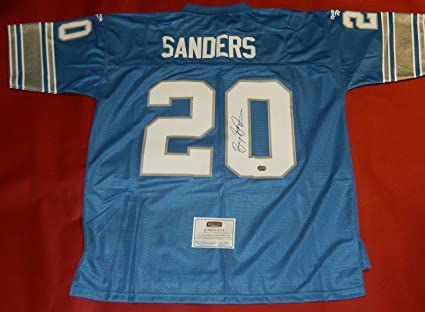 12f41070ce4 Image Unavailable. Image not available for. Color: Barry Sanders  Autographed Jersey ...