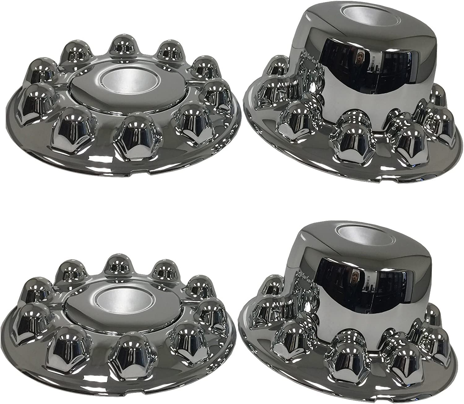 ZXLY ONE Set of 4pcs Chrome ABS Axle Covers 10 Holes for 2005-2016 Ford F450//550