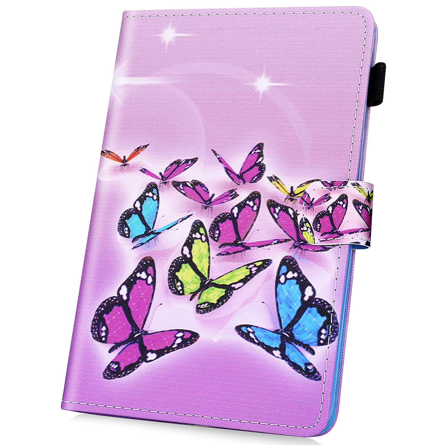 Kindle Paperwhite 1/2/3 Folio Case, JAWSEU PU Leather Flip Case Smart Case with Magnetic Closure Wake Up/Sleep Stand Function Cover for  Kindle Paperwhite 1/2/3, Colorful Owl