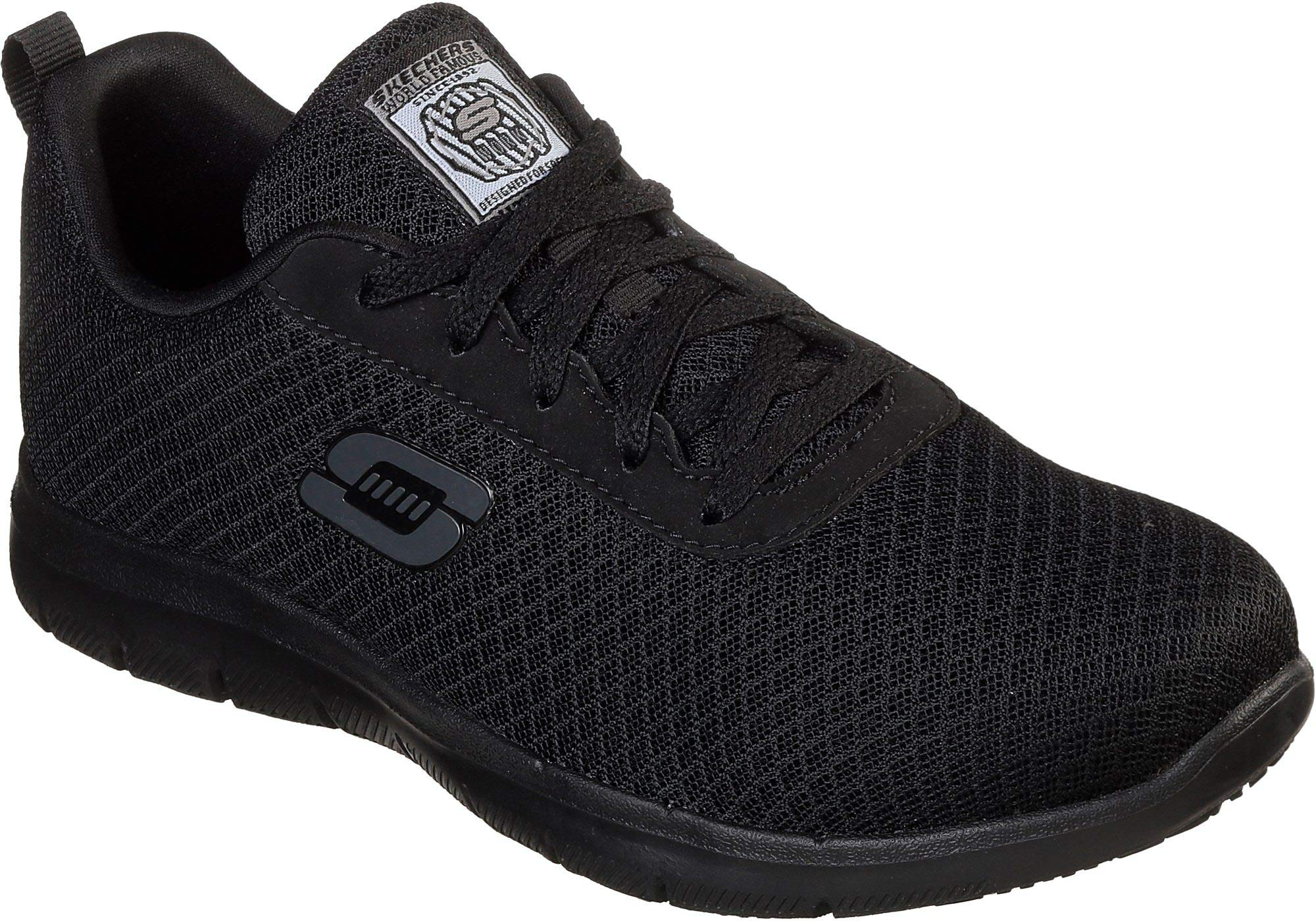 Skechers for Work Women's Ghenter Bronaugh Work and Food Service Shoe , BLACK, 8.5 W US by Skechers