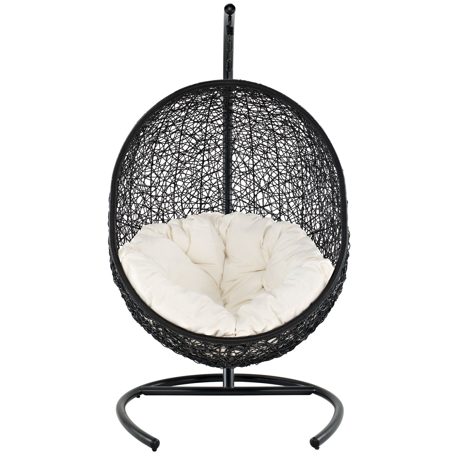 Gentil Amazon.com : Modway EEI 739 Encase Wicker Rattan Outdoor Patio Balcony Porch  Lounge Egg Swing Chair Set With Stand White : Weather Stations : Garden U0026  ...