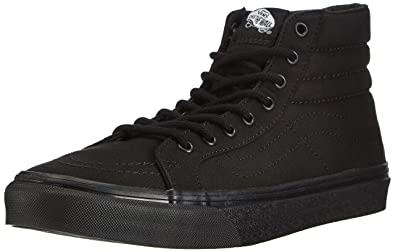 vans black and white high top