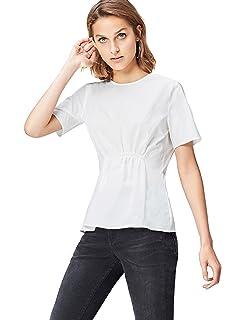 Marca Amazon - find. Camisa con Blonda para Mujer: Amazon.es: Ropa y accesorios