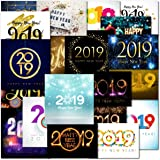Happy New Year 2019 Embellished Christmas Card Talking Pictures