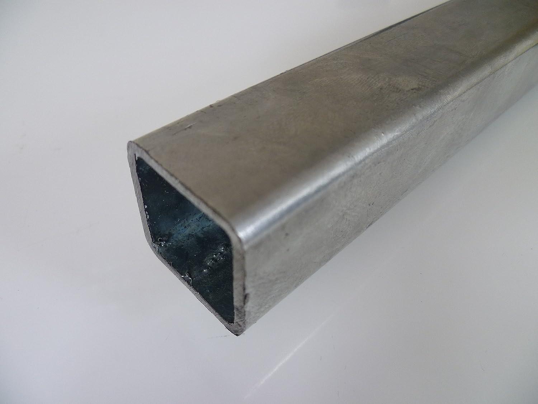 B&T Metall Stahl Vierkantrohr VERZINKT 30 x 30 x 3 mm in Längen à 1500 mm +0/-3 mm Quadratrohr ST37 feuerverzinkt Hohlprofil Rohstahl