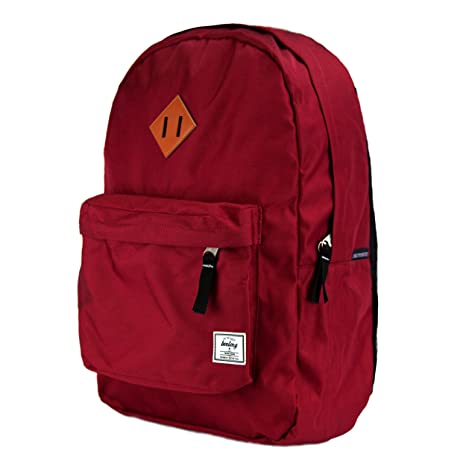 Amazon.com  Benteng Unisex Classic Superbreak Lightweight Water Resistant  School Backpack   Small and Travel Backpack for Outdoor Sports (Red)   SaveTime 5d2005e292