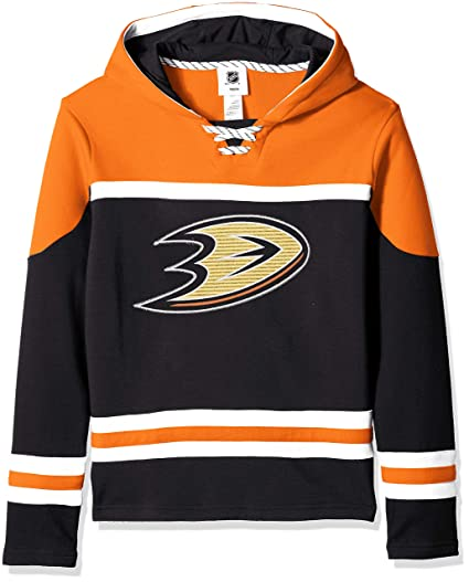 73f297b3 Outerstuff NHL NHL Anaheim Ducks Youth Boys Asset Pullover Hockey Hoodie,  Black, Youth Small
