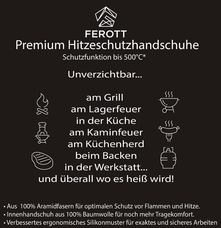 original ferott bbq grillhandschuhe in profi qualität mit ... - Hitzeschutzhandschuhe Küche