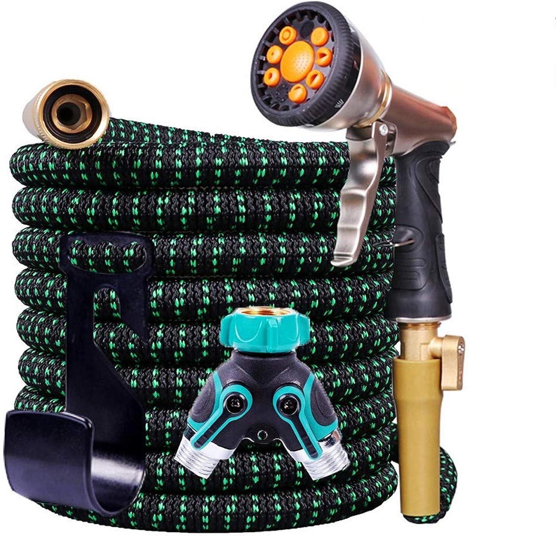 Garden Hose Expandable, Superior Strengths 3750D Water hose, Extra-Strong Brass Connectors, 10-Way Durable Zinc Garden Water Spray Nozzle,Y-Hose Splitter, hose holder (50 Feet)