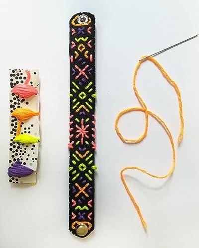 DIY Armbandset Leder inkl. Stickgarn & Nadel: Amazon.de: Handmade
