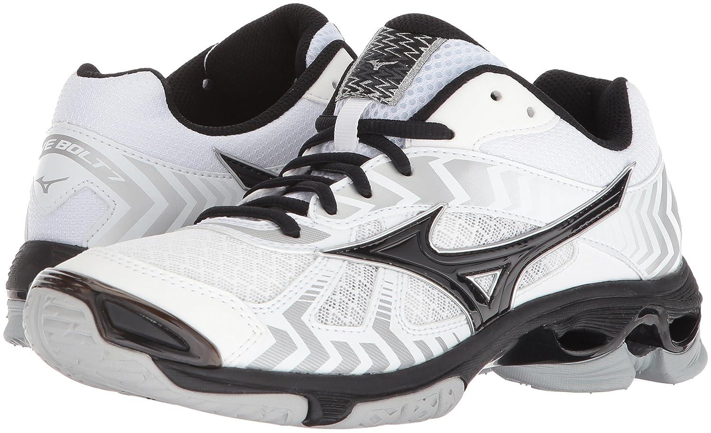 Mizuno Wave Bolt 7 Womens White-Black 8 White//Black