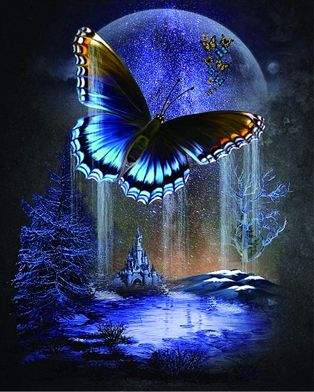5D Diamond Painting Embroidery Cross Stitch Home Art Craft Butterfly DIY Decor M