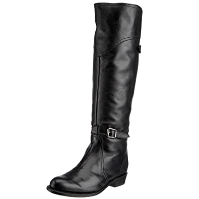 FRYE Womens Dorado Riding Boot       Black Full Grain