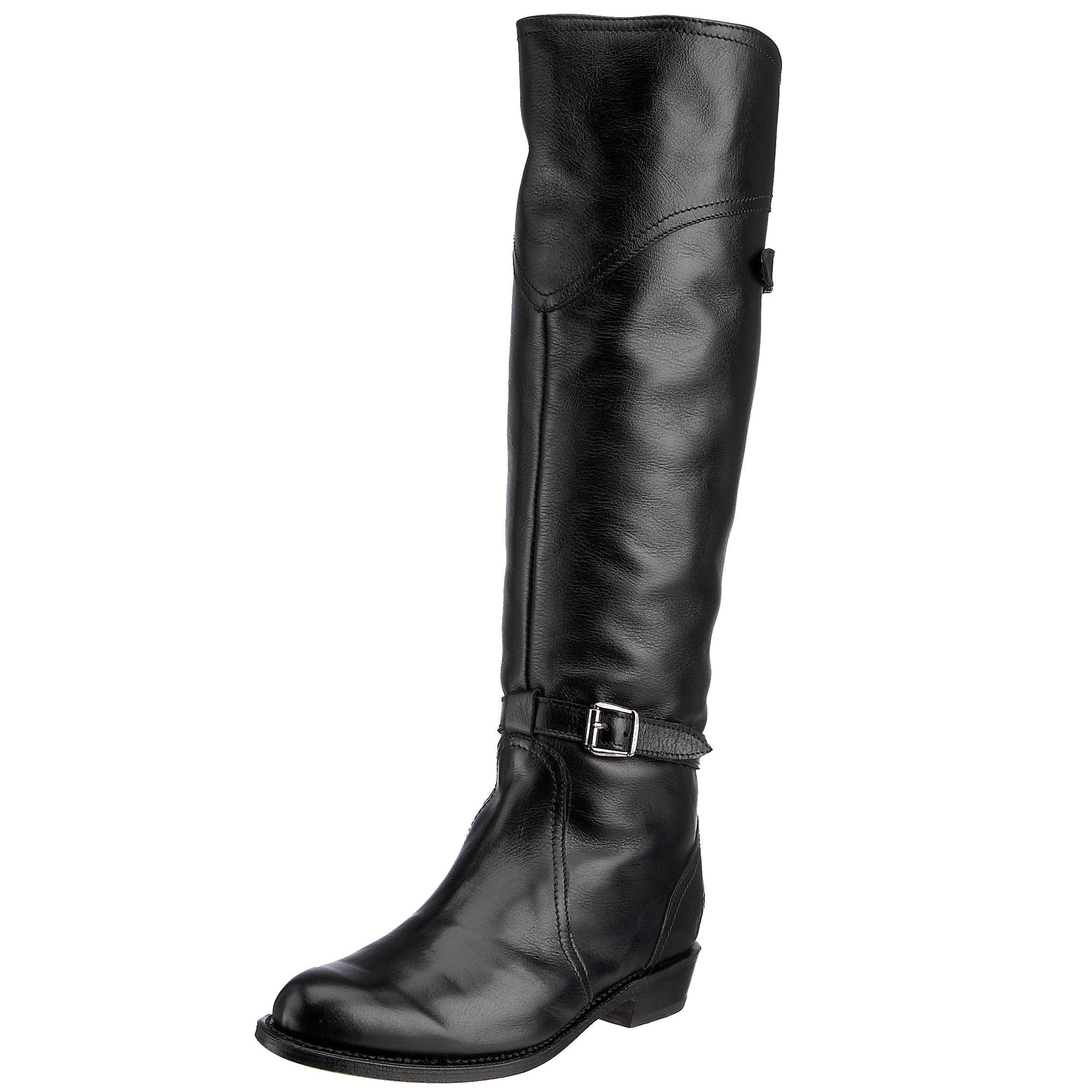 FRYE Women's Dorado Riding Boot, Black Full Grain, 10 M US