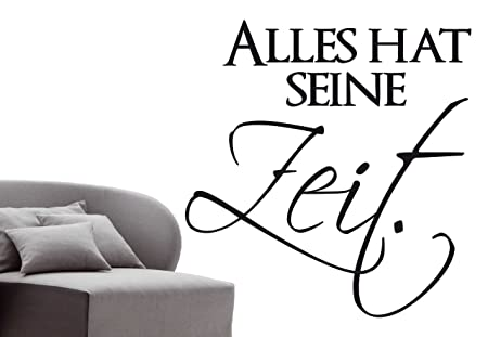 Incredible W313 Alles Hat Seine Zeit German Language Wall Sticker Home Interior And Landscaping Ologienasavecom