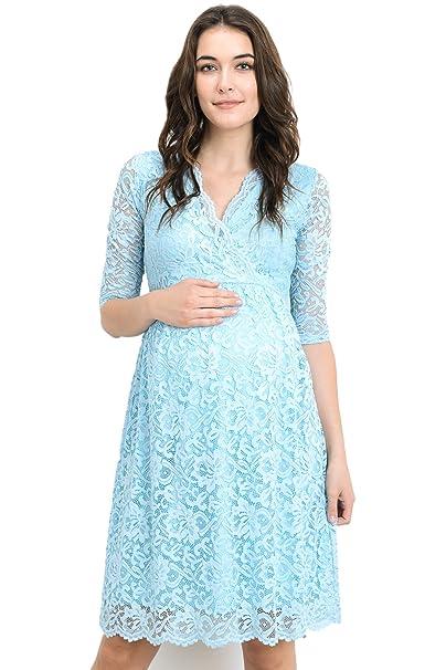 Hello MIZ Vestido de Maternidad para Mujeres Pequeña Agua