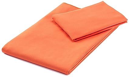 AmazonBasics - Juego de toallas de viaje y deporte (microfibra, 1 toalla de baño