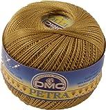 DMC Petra Yarn, 100 Percent Cotton, Gold, Size 5