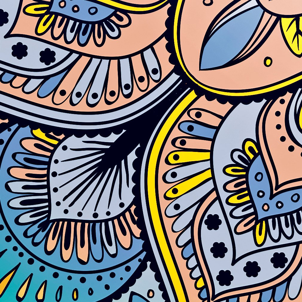 Decomonkey Raumteiler Paravent Beidseitig XXL Ornament Ornament Ornament 225x172 cm - 5 Teilig Trennwand Vlies Leinwand Raumtrenner Sichtschutz spanische Wand Blickdicht Textile Haptik Oriental Mandala Grün Blau Bunt 0bb6a6