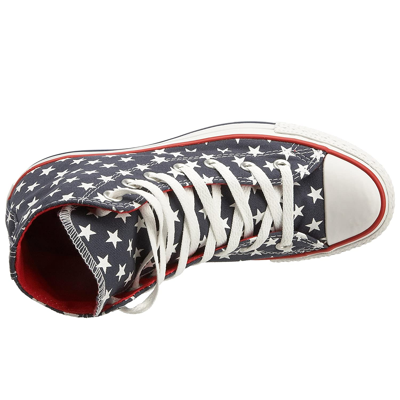 Converse Unisex Chuck Taylor AS Repeat Star Print HI Lace Up Dark DenimWhite 113978 12 UK