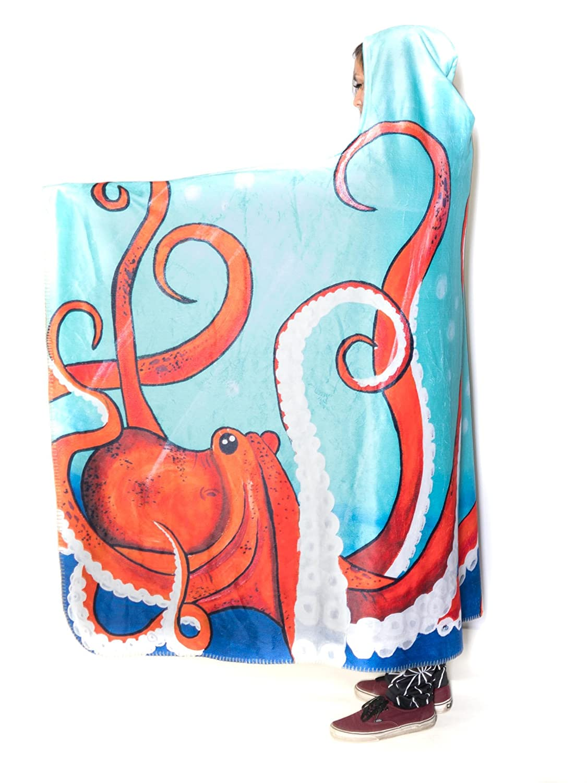 Electro Threads Hooded Blanket - Wildlife/Nature (Deep Sea, Micro Fleece) DEEPSEA-BLAHF