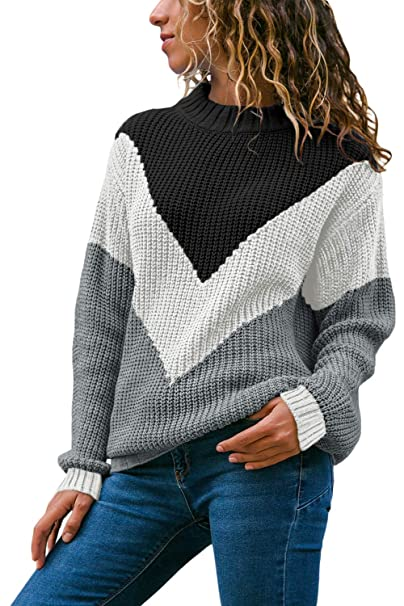 HOTAPEI Women\u0027s Soft Velvet Cable Knit Crewneck Loose Fit Pullover Sweaters