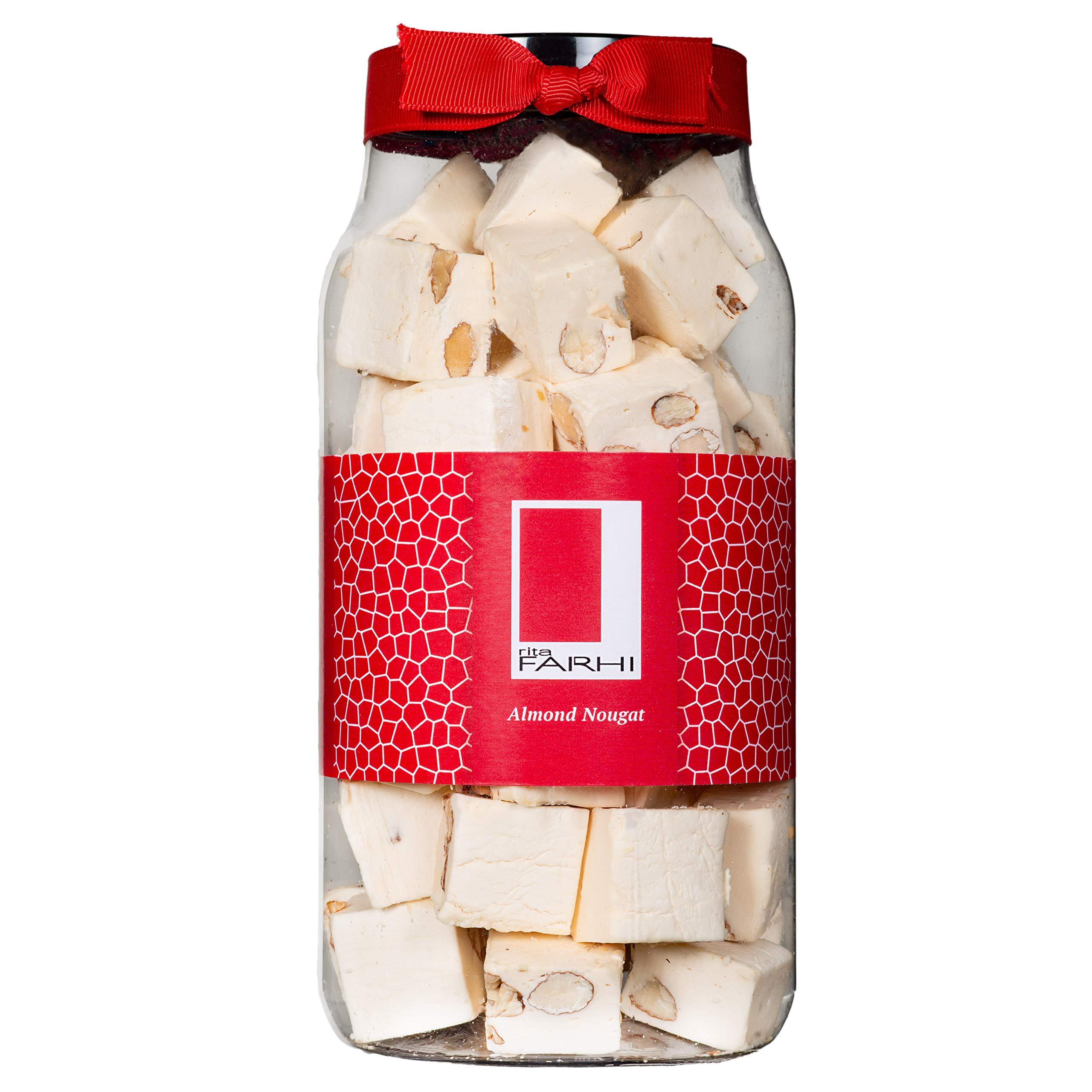 Rita Farhi Traditional Almond Nougat in a Gift Jar, 500 g