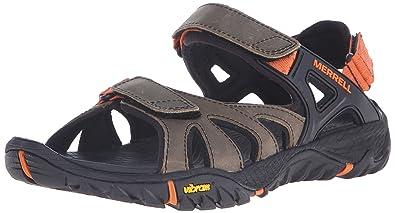 Merrell Men's All Out Blaze Sieve Convertible Water Sandal, Light Brown, ...