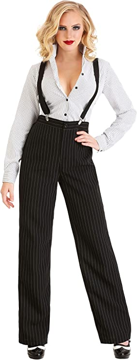 Gangster Costumes & Outfits | Women's and Men's Gangster Lady Costume for Women $39.99 AT vintagedancer.com