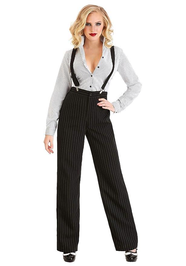 Vintage High Waisted Trousers, Sailor Pants, Jeans Gangster Lady Costume for Women $49.99 AT vintagedancer.com
