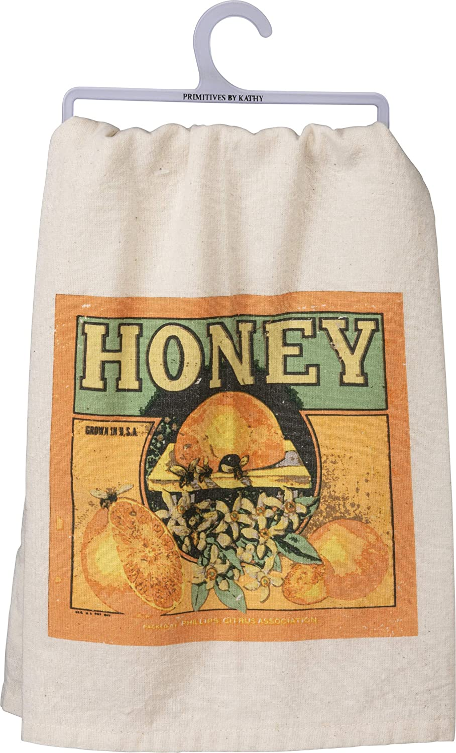 Bee Humble 28 x 28-Inches Primitives by Kathy Hand Lettered Dish Towel