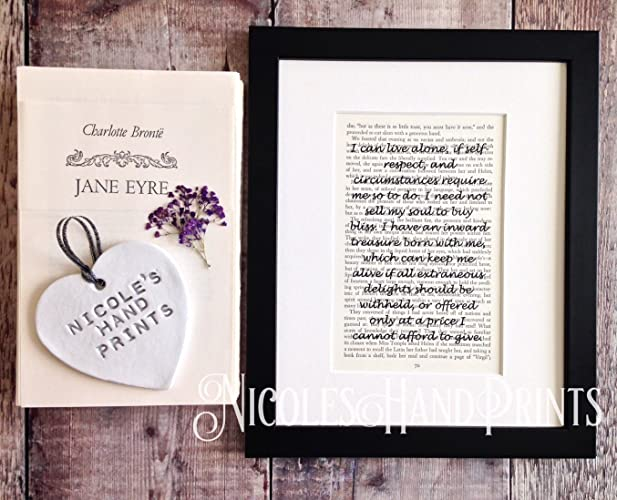 Jane Eyre Quotes | Inspirational Quotes Wall Art Literary Gifts Bronte Jane Eyre